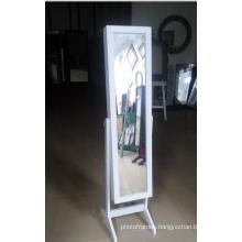 Wooden Mirror Jewelry Cabinet,Floor Standing Mirrored Jewelry Cabinet,Mirrored Jewelry Cabinet