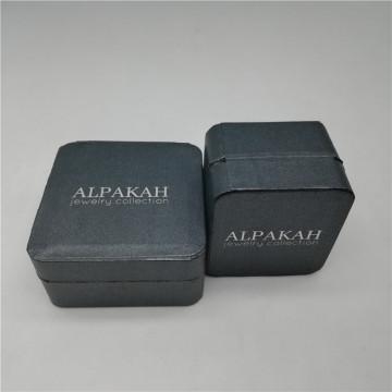 Pequeña caja de joyería de papel de lujo para pendientes Anillos