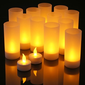 Romance rechargeable LED tealight candle