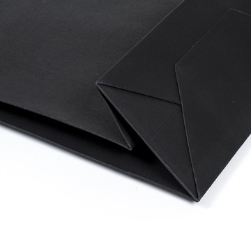 Hot sale good quality for China Kraft Paper Bag,Brown Kraft Bags,Kraft Paper Shopping Bags Supplier Top Fashion Unique Design Black Paper Bag export to Netherlands Importers