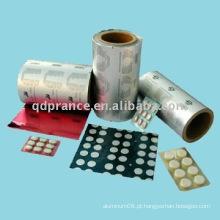PTP Folha de alumínio para produtos farmacêuticos