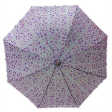 Auto Open Ladies Printing Straight Umbrella