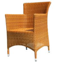 Cadeira de restaurante de alta qualidade PE Resina Rattan Wicker Weave para restaurante de hotel Terraço ao ar livre