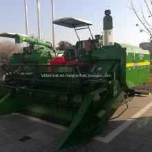 maquinaria agrícola cosechadora de arroz de tipo rastreador sin cabina