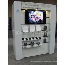 Pavimento personalizado na porta Exibição de varejo Montagem de alto-falante do computador Unidade de exibição de alto-falante de carro de madeira