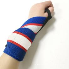 Logo personnalisé élastique élastique résistance poignet de remise en forme