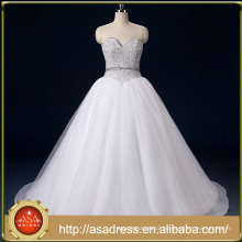RASA-03 2017 Real Sample Luxury Sweetheart Bling Sequins Beading Puffy Ball Gown Princess Wedding Dress Bridal Gown