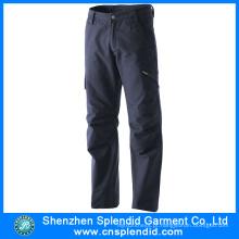 Cheap China Dark Blue Mens 100% Algodão Calças com bolso