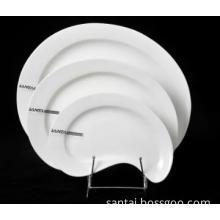 White porcelain for hotel restaurant and home dinner plate