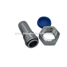 Swivel metric high pressure brass hydraulic hose fittings