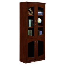 office furniture design modular wooden filing cabinet with glass doors