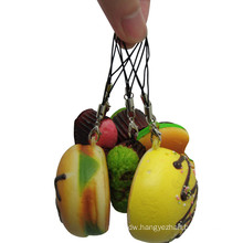 OEM New Design 3D Artificial Food Cellphone Charm