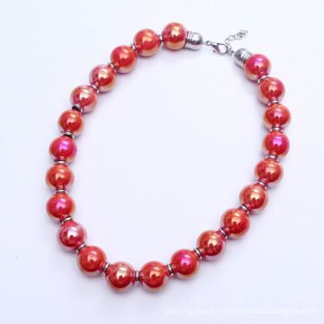 18mm Big Ceramics Beads Necklace