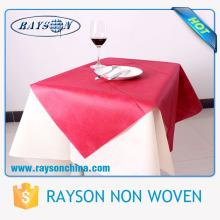 Toalha de mesa quadrada não tecida descartável Eco-amigável do spunbond do polipropileno de 1m * 1m / tablecover