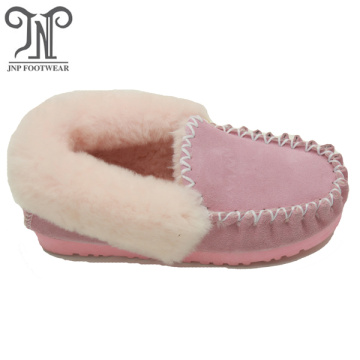 women moccasin house sheepskin fluffy indoor slippers