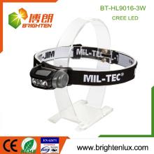 Alimentation en usine Batterie 3 * aaa pas cher ABS Multi-fonction Haute lumens Puissant projecteur à phare à 3 watts puissant avec lumière rouge blanche
