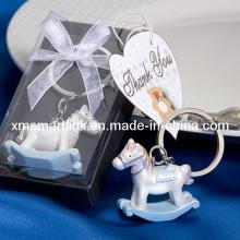 Silberne Miniaturpferd-Andenken-Schlüsselketten-Geschenke