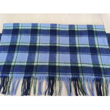 2016 vente chaude laine bleu châle vérifié
