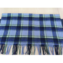 2016 hot sale wool blue checked shawl