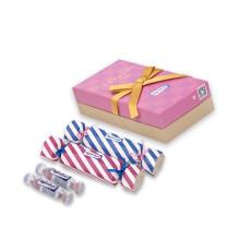 6PCS / Lot Super Condensations Pleasure De Conditionnement De Bonbons Grandes Moist Avec Ensemble Condom Lubrifiant