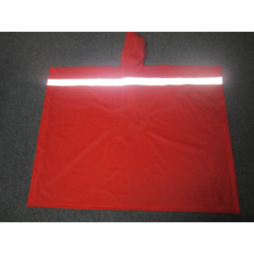 Yj-6072 PVC Waterproof Reflective Reusable Rain Ponchos Raincoat