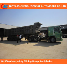40-50ton Heavy Duty Mining Dump Auflieger