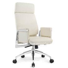 Chaise de bureau pivotante à dossier haut en cuir (HF-CH141A)