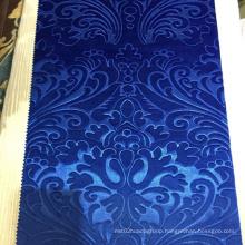 New design 3D Embossed Cheap Spandex Velvet Knitting Fabric