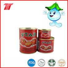 Pasta de tomate enlatada sana de la marca de la estrella 400g con precio bajo