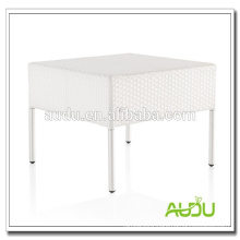 Square Outdoor Rattan White Dining Table