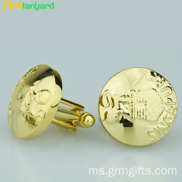 Metal Cufflink For Women With Design Discrepant