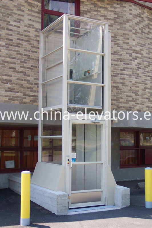 Stationary Vertical Wheelchair Lifts with shaft