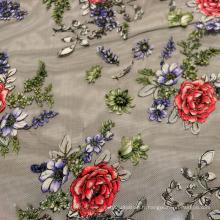 Tissu moulé brodé à la mode 2016