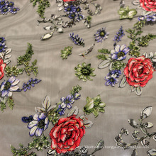 2016 Fashion Embroidered Mesh Fabric
