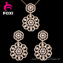 Ensemble de mode Ensemble de bijoux en or et pendentif en or 18k