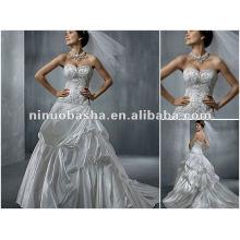 Boutique Embrodery Beadings Vestido de casamento