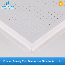 Foshan wall decorative ceilings perforated pvc lay in aluminum ceiling tiles