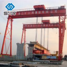 Grúa de pórtico resistente del edificio de la nave de 600 toneladas, productos expertos de la fabricación de la grúa