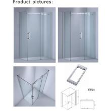 8mm / 10 mm de espesor de vidrio cabina de ducha rectángulo / puerta de vidrio simple (kw04)