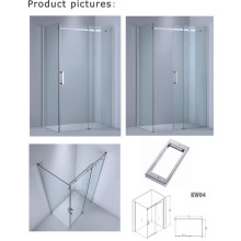 8 мм / 10 мм Толщина стекла Прямоугольная душевая кабина / Простая стеклянная дверь (Kw04)