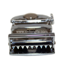Belt buckle hardware,men's clip buckle belt with zinc alloy