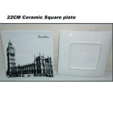 Placa quadrada da porcelana de Londres 8.5INCH para BS130601A