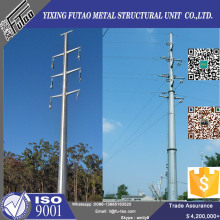 110KV  Galvanized  Octagonal Electrical Steel Pole