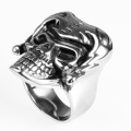 Fashionista rock locomotive Domineering skull rings