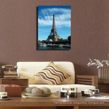 Impressão chique da lona da torre Eiffel de Paris para a casa, arte finala famosa da lona da construção