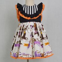 Boutique Halloween Pumpkin Party Baby Girl Dress