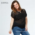 Plus Size Lace Women Casual T Shirt