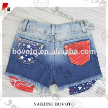 Boutique moda blanqueado ombre denim hot shorts