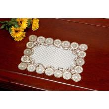 Tischset aus PVC mit Goldspitze (JFCD-014)