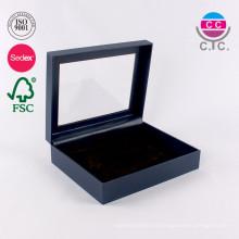 Caja de empaquetado del cartón del regalo de encargo con la ventana del PVC